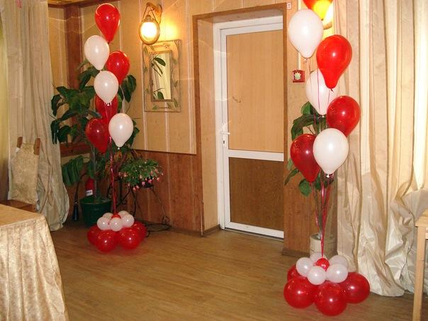Фонтаны из шаров на стол своими руками